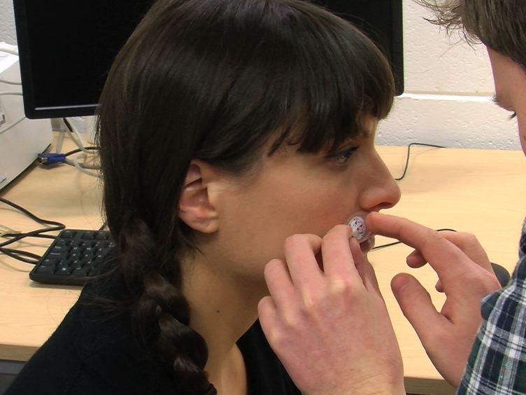 Stimulating the Lip Motor Cortex with Transcranial Magnetic Stimulation