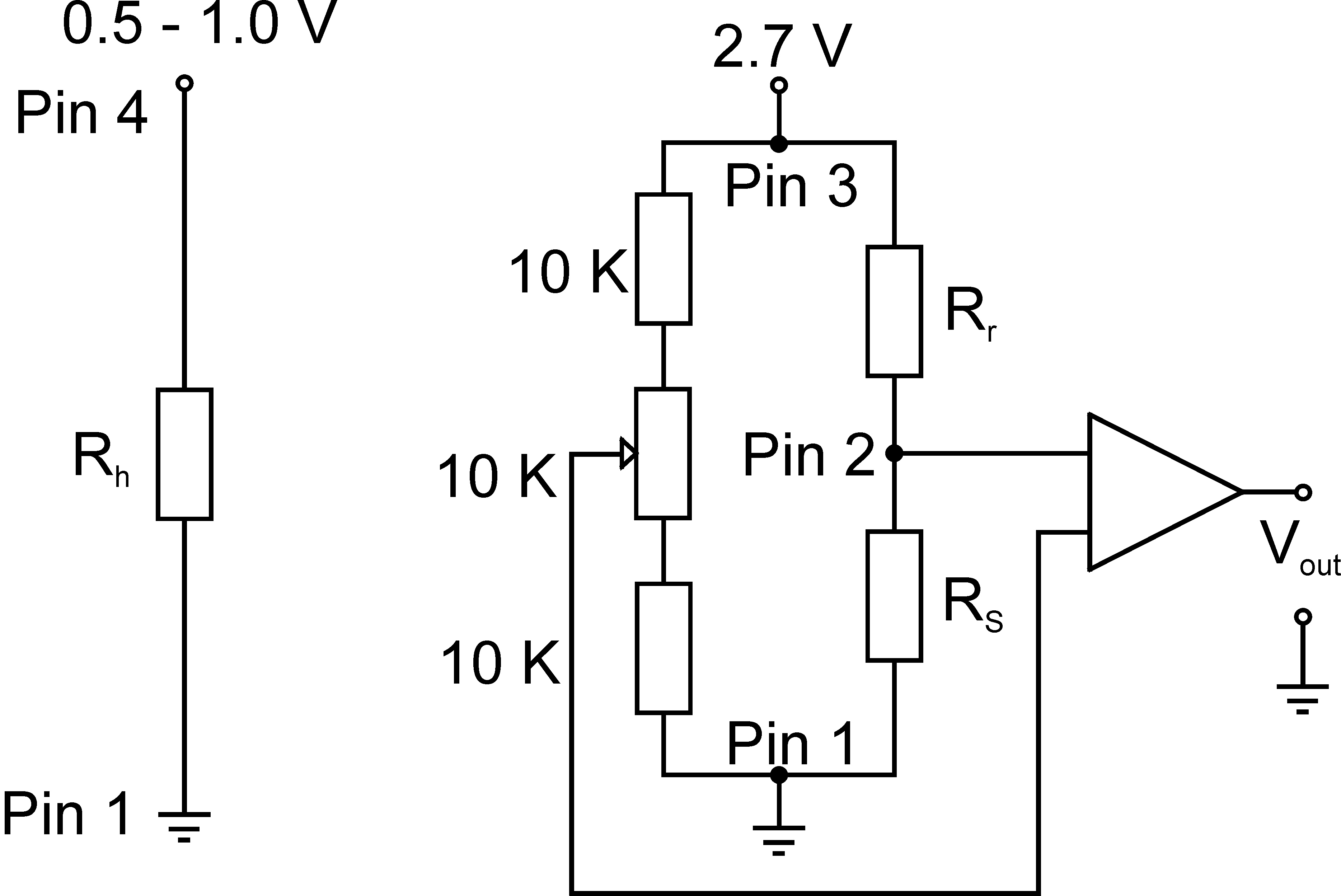 Preparation And Use Of Photocatalytically Active Segmented Ag Zno Split Circuit Wiring Moreover A Line Load Gfci Outlet Diagram Typical Operating The H2 Sensor With Wheatstone Bridge In This Scheme Pin 1 To 4 Refer Is Black