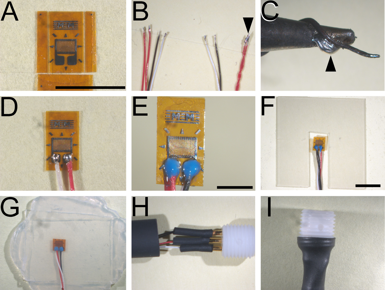 Fabrication And Implantation Of Miniature Dual Element Strain Gages Gauge Wiring Principal Stages Gage A Bonded Elements That Have Been Trimmed On Three Four Sides To Final Dimensions