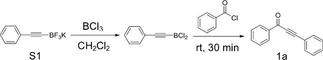 Metal-free Synthesis of Ynones from Acyl Chlorides and Potassium