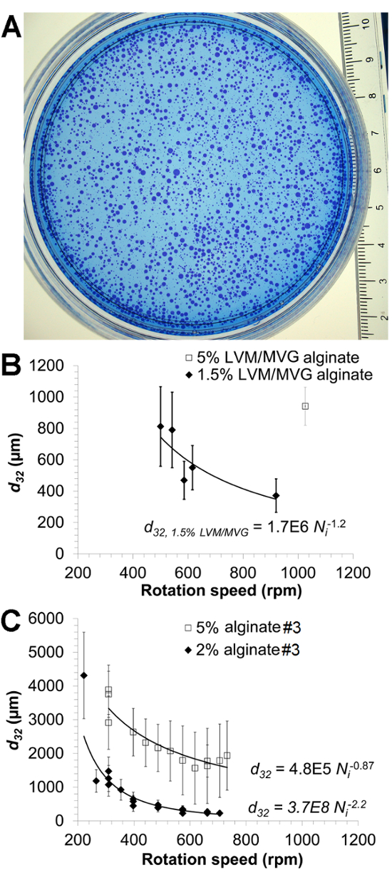 Mammalian Cell Encapsulation in Alginate Beads Using a