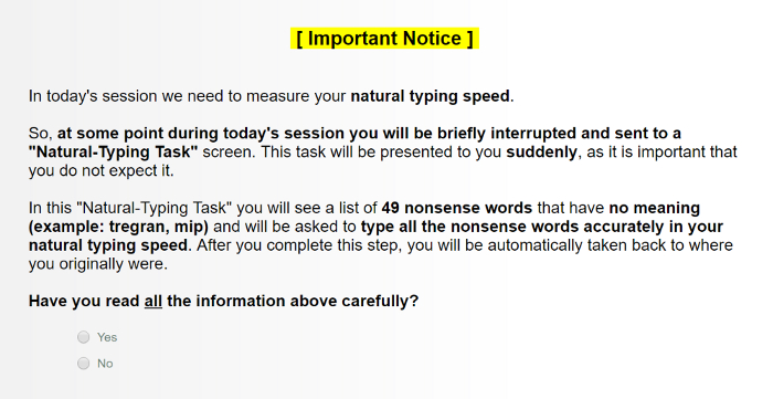 Task Interruption and Resumption Paradigm for Testing the Activation