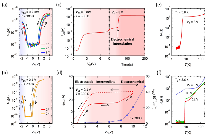 Electric-field Control of Electronic States in WS2 Nanodevices by