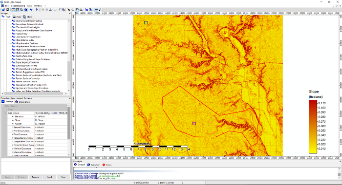Use of Principal Components for Scaling Up Topographic Models to Map